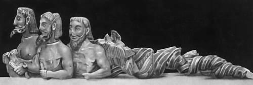 """Афины.  0.  """"Трёхглавый Тифон """".  Маленькие стильные прихожие.  Известняк.  6 век до н.э."""