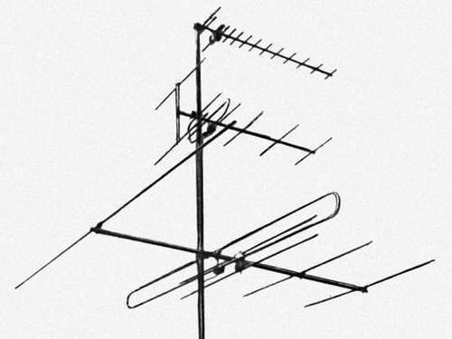 """Приёмные телевизионные антенны.  Набор коллективных антенн типа  """"волновой канал """" для приёма передач по всем каналам..."""