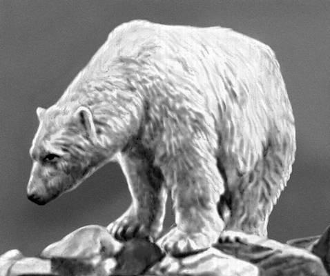 белый медведь тату.