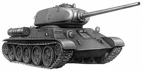Танк Т-34-85 был разработан и принят на вооружение в декабре 1943 года в связи с появлением у противника...