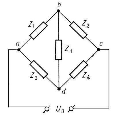 ...электрический четырёхполюсник, к одной паре зажимов (полюсов) которого подключен источник питания, а к другой...