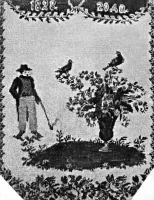 Бисер.  Шитьё на сумочке.  1828. частные собрания, Москва.