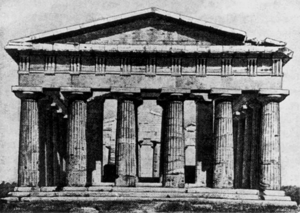 Около 540 г. до н.э. 637.  Схемы конструкции архитектуры дорического ордера (по Г. Земперу и О. Шуази) .