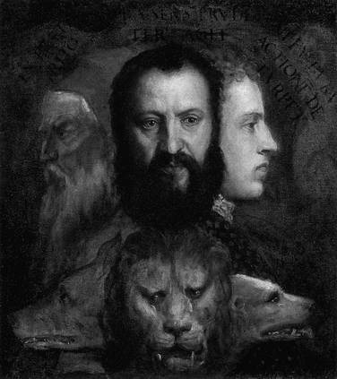 Allegory of Prudence, Titian, National Gallery London.
