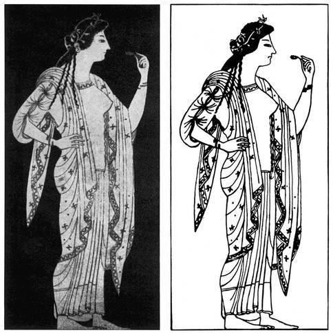 Силуэтное и контурное изображения в древнегреческой вазописи (по В. Хенце)