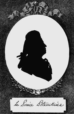 """Ф. Сидо. Портрет князя Г. А. Потемкина. Вторая половина XVIII в. Из книги """"Двор императрицы Екатерины II и ее приближенные"""". СПб., 1899"""