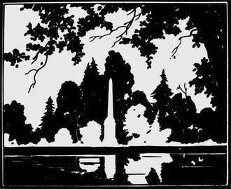Н. В. Ильин. Иллюстрация к книге: А. С. Пушкин. Лирика. Москва, 1949. Коллаж из черной и белой бумаги